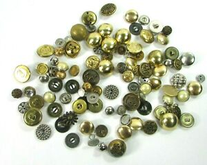 Vintage Lot Of Metal Gold & Silver Tone Buttons