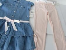 GUESS Girls Suit Pink Legging & Denim Dress size 6 New