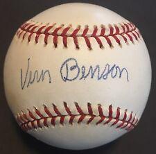 VARY RARE Vern Benson (Deceased) JSA Signed Baseball STL Cardinals NY Yankees