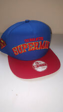 A10 NEW ERA 9fifty A-FRAME SNAPBACK * SUPERMAN MAN OF STEEL Baseball Cap * S/M
