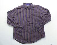 Robert Graham Purple Stripe longsleeve XL Button Up Flip Cuff Shirt