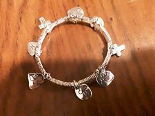 Bracelet Bangle.Free Shipping. Silver Charms Religious Chain