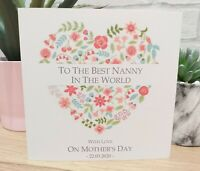 Best Mum Personalised Slippers nan flowers hearts mummy nanny mom mam grandma
