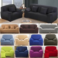 1/2/3/4 Seater Sofa Covers Couch Slipcover Stretch Elastic Settee Protector CA