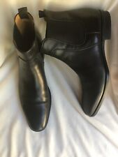 Boss by Hugo Boss Men's Black Leather Chelsea Ankle Boots SZ 9 m new
