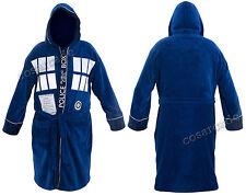 Doctor Dr Who Tardis Adult Unisex Dressing gown / bathrobe / robe (Mens fleece)
