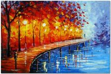 Modern Abstract Huge Wall Decorate Canvas Art Oil Painting:Tree&River((No Frame)