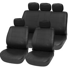 Style Heavy Duty Full Leather Car Seat Cover Set Car Seat Cushion Mat Protector