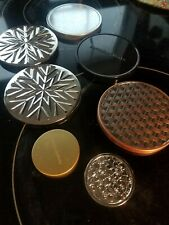 Assorted Bath & Body Works Candle Jar Lids (Five 3-wick and Two Minis)