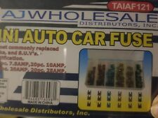 120 pc Mini Assorted Car Fuse Auto Cars & Trucks Fuses Replacement Color Coded G