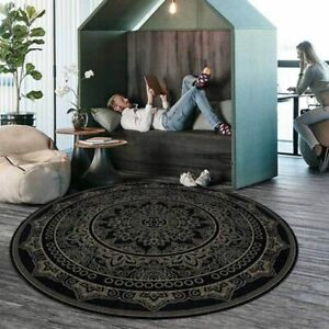 Round Carpet Pattern Area Rugs Living Room Non-Slip Floor Mat  Bedroom Tapete