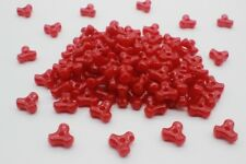 100 pce Red Acrylic Tri Beads 11mm x 4mm Jewellery Making Kids Craft