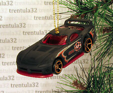 POLICE Dodge Viper GTS-R CHRISTMAS TREE ORNAMENT Black/Red Sports Car XMAS