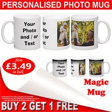 Personalised Photo Mug or Magic Mug - Custom Full Color Printed Gift Coffee Cup