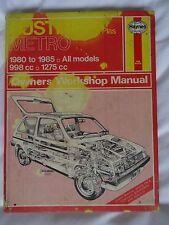 HAYNES AUSTIN METRO MANUAL,1980 to 1985,998cc-1275cc, Includes VANDEN PLAS