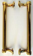 "1 Vintage PAIR BRASS Front / CENTRE DOOR PULLS / HANDLE / Knob - 13 "" / 33 cm"