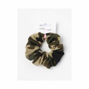 Regular 10cm scrunchie camouflage print fabric festival everyday wear UK Seller,