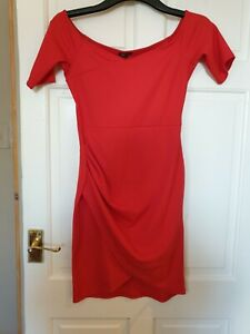 LADIES RED  RIVER ISLAND DRESS SIZE 10
