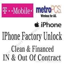 T-Mobile MetroPCS USA IPHONE UNLOCK SERVICE iPhone 8 8+ 7 7+ 6S 6S+ SE Plus
