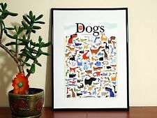 99 Dogs 1 Cat  - A4 Glossy Poster - FREE Shipping
