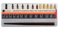 Manuscript Italic & Poster Set Dip Pen Holder 11 Calligraphy Nibs & Storage Box