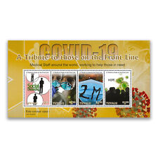 Tuvalu 2021 A Tribute To The Front Line Medical Staff Mini Sheet of 4 Stamps MUH