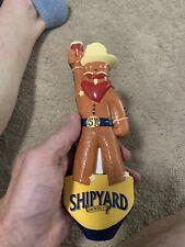 New ! Shipyard Gingerbread head  beer tap handle