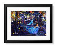 Van Gogh Starry Night Princess Cinderella Canvas Wall Art Print Poster A027