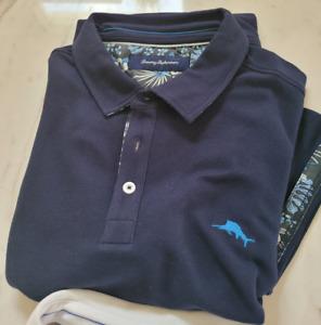 Tommy Bahama Polo Shirts!!  Short sleeve  Marlin / SUPIMA / Emfielder XL  Enjoy!