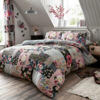 NEW Ellis Floral Vintage Reversible Duvet Cover Pillowcases All Sizes
