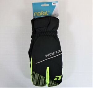 Nofel Winter Cycling/Running Windproof Waterproof Lobster Glove Black/Neon XXL