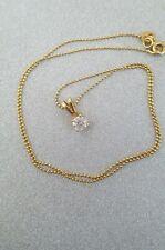 18ct Gold 0.5 ct Diamond Solitaire Pendant