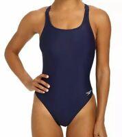NWT Speedo Powerflex Navy Blue Stretch Pro One-Piece Swimsuit Women's Size 6/32