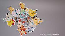 12x pokemon sticker pikachu gloss t-shirt water transfer tattoo scrapbook party