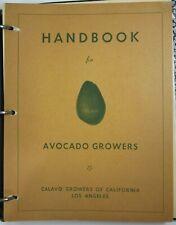 Vtg California Avocado Agriculture History Calavo Handbook Newsletters 1940-50's