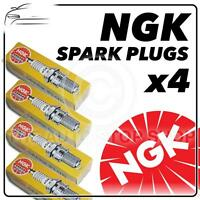 4x NGK SPARK PLUGS Part Number BU8H Stock No. 6431 New Genuine NGK SPARKPLUGS
