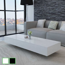 vidaXL Mesa Centro Fibra Vidrio Material MDF Negro/Blanco con Acabado Brillante