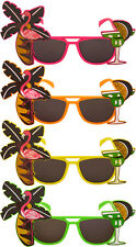 Flamingo Sunglasses Glasses Hawaiian Fancy Dress Cocktail Novelty Tropical Beach