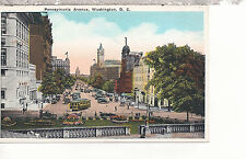Pennsylvania Avenue Looking to Capitol    Washington D C   WB  Postcard 287b