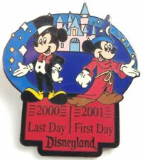 Le Disney Pin - Disneyland Resort Last Day First Day 2000 2001 Mickey Mouse