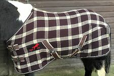 """MINI/ SHETLAND/ PONY BROWN AND BEIGE WAFFLE/COOLER RUGS.3'0"""" TO 4'6"""""""