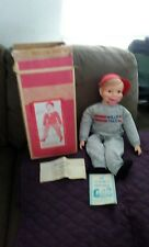 Vintage Horsman WILLIE TALK Ventriloquist Doll TOY opens mouth,no close 1972box