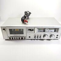 Vintage Technics Cassette Deck RS-M205 Powers On For Parts or Repair