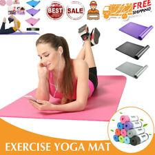 Yoga Mat Gym Fitness Exercise Eco Friendly Foam 10MM NON Slip Pilates Physio Mat