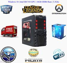 Intel SKYLAKE Gaming RIG Desktop PC 3.3 GHz 1TB Hard Drive 16GB DDR4 RAM