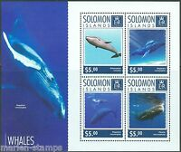 SOLOMON ISLANDS  2014 WHALES SHEET MINT NH