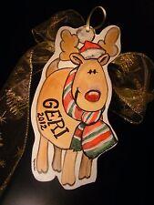 Reindeer Personalised Decoration-Handpainted Christmas tree ornament
