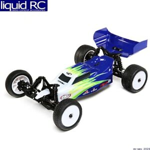 Losi 01016T1 Mini-B Brushed RTR: 1/16 2WD Buggy Blue/White