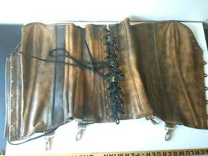 Hips and Curves Womens Tanned Leather Corset Rare  New Without Tags  Size XXXL