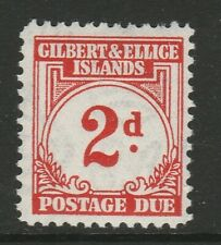 Gilbert and Ellice 1940 George VI 2d Scarlet SG D2 Mint.